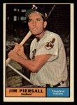 1961 Topps #345  Jimmy Piersall  Front Thumbnail