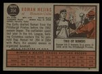 1962 Topps #354  Roman Mejias  Back Thumbnail