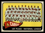 1965 Topps #57   Cardinals Team Front Thumbnail