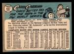 1965 Topps #437  Leo 'Chico' Cardenas  Back Thumbnail