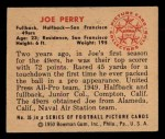 1950 Bowman #35  Joe Perry  Back Thumbnail