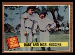1962 Topps #137 A  -  Babe Ruth / Miller Huggins Babe and Mgr. Huggins Front Thumbnail