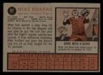 1962 Topps #87  Mike Roarke  Back Thumbnail