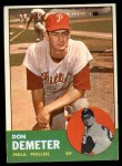 1963 Topps #268  Don Demeter  Front Thumbnail
