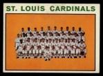 1964 Topps #87   Cardinals Team Front Thumbnail