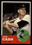 1963 Topps #445 xTCH Norm Cash  Front Thumbnail