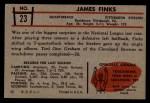 1953 Bowman #23  James Finks  Back Thumbnail