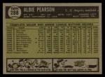 1961 Topps #288  Albie Pearson  Back Thumbnail
