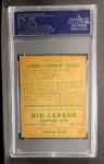 1938 Goudey Heads Up #273  Jimmie Foxx  Back Thumbnail