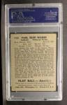1939 Play Ball #112  Paul Waner  Back Thumbnail
