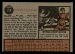 1962 Topps #379  Chuck Essegian  Back Thumbnail
