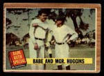 1962 Topps #137 GRN  -  Babe Ruth / Miller Huggins Babe and Mgr. Huggins Front Thumbnail