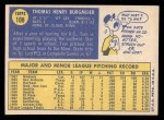 1970 Topps #108  Tom Burgmeier  Back Thumbnail