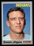 1970 Topps #257  Dennis Higgins  Front Thumbnail