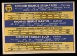 1970 Topps #599   -  Gene Martin / Dick Stelmaszek / Dick Such Senators Rookies Back Thumbnail
