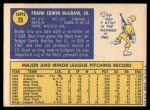 1970 Topps #26  Tug McGraw  Back Thumbnail