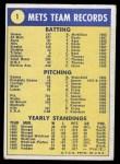 1970 Topps #1   Mets Team Back Thumbnail