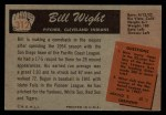 1955 Bowman #312  Bill Wight  Back Thumbnail