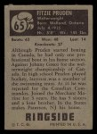 1951 Topps Ringside #65  Fitzie Pruden  Back Thumbnail
