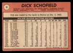 1969 Topps #18  Dick Schofield  Back Thumbnail