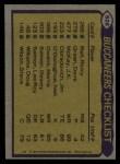 1979 Topps #526   Buccaneers Leaders Checklist Back Thumbnail