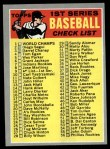 1970 Topps #9   Checklist 1 Front Thumbnail