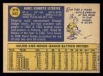 1970 Topps #553  Jim LeFebvre  Back Thumbnail