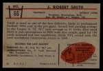 1953 Bowman #66  Robert Smith  Back Thumbnail