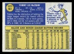 1970 Topps #561  Tom McCraw  Back Thumbnail