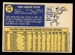 1970 Topps #558  Vern Fuller  Back Thumbnail