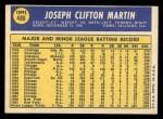 1970 Topps #488  J.C. Martin  Back Thumbnail