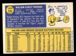 1970 Topps #335  Bill Freehan  Back Thumbnail