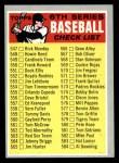 1970 Topps #542 BRN  Checklist 6 Front Thumbnail