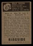 1951 Topps Ringside #13  Billy Soose  Back Thumbnail