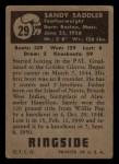 1951 Topps Ringside #29  Sandy Saddler  Back Thumbnail
