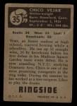 1951 Topps Ringside #35  Chico Vejar  Back Thumbnail