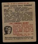 1948 Bowman #86  John Clement  Back Thumbnail