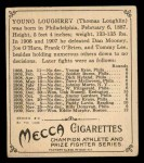 1910 T218 Champions #127  Young Loughrey  Back Thumbnail