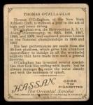 1910 T218 Champions #42  Thomas O'Callaghan  Back Thumbnail