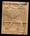 1948 Leaf #3 RED Bull Turner  Back Thumbnail