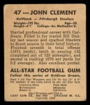 1948 Leaf #47 BRN John Clement  Back Thumbnail