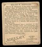 1910 T218 Champions #53 SID Melvin Sheppard  Back Thumbnail