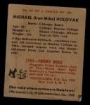 1948 Bowman #65  Mike Holovak  Back Thumbnail