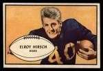 1953 Bowman #22  Elroy Hirsch  Front Thumbnail
