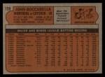 1972 Topps #159  John Boccabella  Back Thumbnail