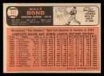 1966 Topps #431  Walt Bond  Back Thumbnail