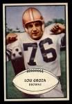 1953 Bowman #95  Lou Groza  Front Thumbnail