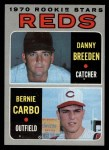 1970 Topps #36   -  Bernie Carbo / Danny Breeden  Reds Rookies Front Thumbnail
