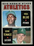 1970 Topps #21   -   Vida Blue / Gene Tenace Athletics Rookies Front Thumbnail