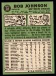 1967 Topps #38 ^COR^ Bob Johnson  Back Thumbnail